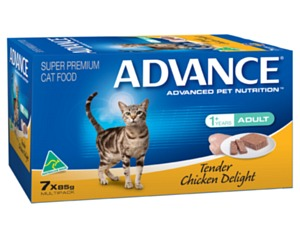 ADVANCE CAT 85G MULTIPACK TENDER CHICKEN DELIGHT